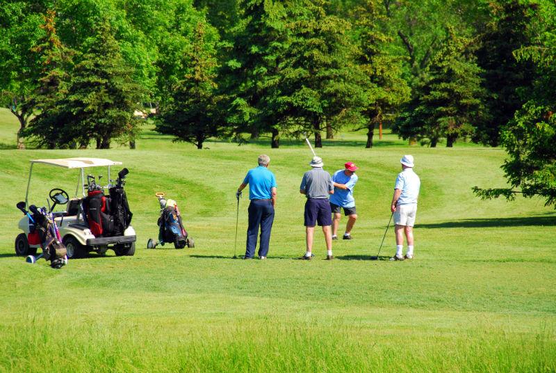 Senior golfers slow swing speed