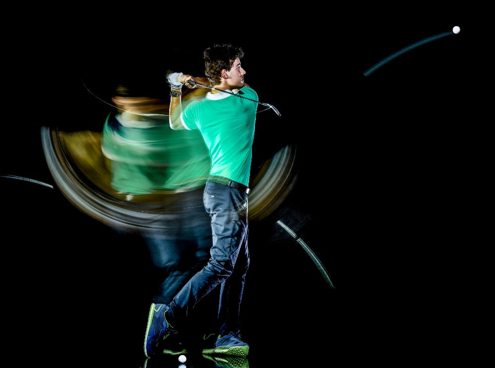 Golf swing speed with ball